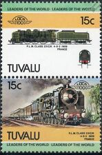1909 PLM Class 231C / NORD 231K 4-6-2 Paris Lyon & Med timbres train / loco 100