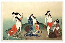 Asian Japanese Art Print Abalone Divers by Utamaro
