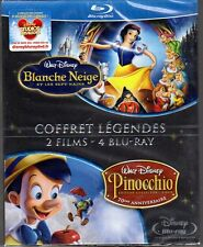 BLANCHE NEIGE ET LES 7 NAINS / PINOCCHIO - Coffret 4 Blu-Ray - Neuf blister