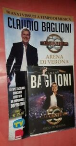 2 DOPPIO DVD CLAUDIO BAGLIONI AL CENTRO 50° ARENA DI VERONA