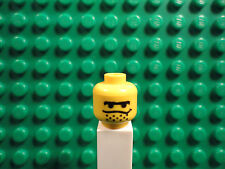 Lego mini figure 1 Yellow head with a face and dotted goatee #57