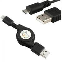Cable Micro USB A A USB 2.0 B Retráctil Cable Del Cargador Sincronizar