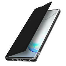 Flip Folio Case with Mirror for Samsung Galaxy Note 10 Plus Thin and Light Black