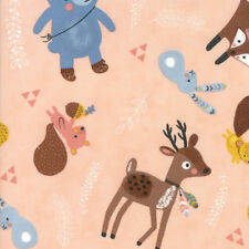 Moda Fabric Wild Free Woodland Critters Rosie - Per 1/4 Metre