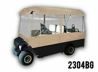 4 Person Driving Golf Cart Cover, Beige, Brand New