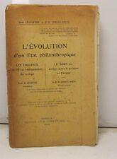 CLAPAREDE Rene', L'Evolution d'un Etat, Congo