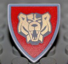 Lego Castle Santis Red Triangular Shield Knights Kingdom 2 w/ Bear Pattern NEW