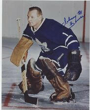 JOHNNY BOWER TORONTO MAPLE LEAFS SIGNED AUTOGRAPH 8x10 PHOTO w/ COA