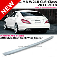 MB W218 CLS-Class 11-18 AMG Style Rear Trunk Lid Lip Unpainted Spoiler