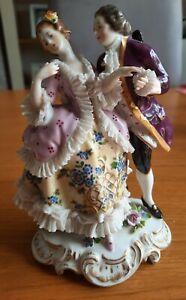 Antique German Porcelain Couple Figurine