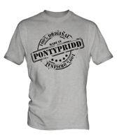 MADE IN PONTYPRIDD MENS T-SHIRT GIFT CHRISTMAS BIRTHDAY 18TH 30TH 40TH 50TH 60TH