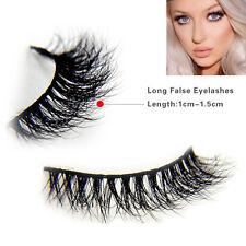 Soft Design 3D 100% Real Mink False Eyelashes Cross Messy Eye Lashes [1 Pairs]
