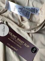 "M & S Cooling Waist Slip NWT Sz 10 Short 16"" Almond Beige Rrp £16 Cling Resist"