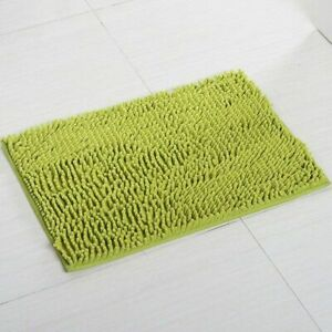 Bath Mat Microfiber Soft Absorption Non Slip Door Room Floor Rugs Solid Carpets