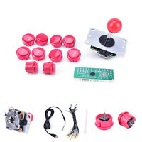 new Arcade DIY Kits Parts USB Encoder To PC Joystick + red Button