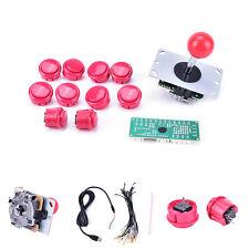 new Arcade DIY Kits Parts USB Encoder To PC Joystick + red Button