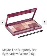 Maybelline New York The Burgundy Bar Eyeshadow Palette Brand New Sealed