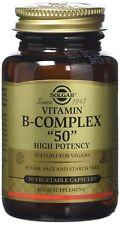 "Solgar B-Complex ""50"" 50 / 100 / 250 Pure High Potency Sugar Salt & Starch Free"