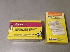 Law in a Flash Cards: Real Property Emanuel Law and some of Contracts