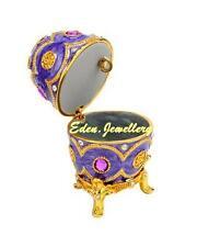 Gorgeous TAYLOR AVEDON Keepsake Trinket Egg Jewellery MUSIC Box MB1037 PURPLE