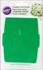 Wilton Rose Leaf Fondant Cut And Press Set Baking Tool New