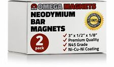 Strong Neodymium Bar Magnets (2 Pack) - Powerful, Rectangular Rare Earth Magn...