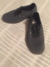 Vans off the wall Unisex Shoes Men's 7 And Women's 8.5 Nice Shoes Solid Grey