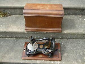 Antique Hand Crank Swan Neck Sewing Machine Vintage Jones Needlework Old