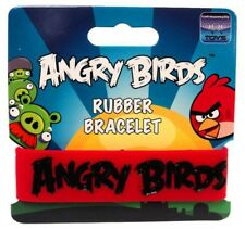 Angry Birds Black on Red Rubber Bracelet