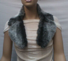 FASHION FAUX FUR COLLAR : PRE CUT AND FULLY LINED : GREY : #10261 -