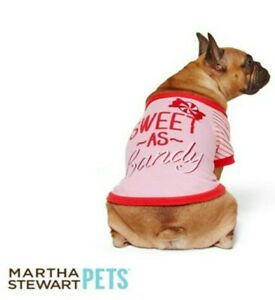 """Martha Stewart Pets® """"Sweet~As~Candy"""" Holiday Tee Size Large NWT"""