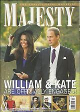 Majesty magazine Kate Middleton Prince William Queen Elizabeth Sandrigham Castle
