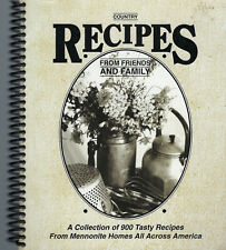 COUNTRY RECIPES FROM FRIENDS & FAMILY 1998 ETHNIC MENNONITE COOKBOOK NATION-WIDE