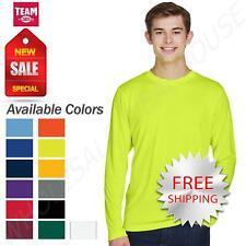 Team 365 Mens Long Sleeve T-Shirt Dri-Fit Performance Workout UV Protect  TT11L