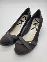 Anne Klein Black Sports Wedge Heel Shoes Slip On Women's Size 8.5