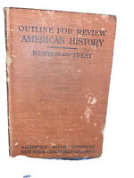 Outline for Review English History, Newton and Treat (1st ed,1907) antique vtg
