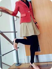 Corduroy blazer bodycon metal 1 button jacket designer velvet Skirt work wear M