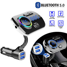 Bluetooth In Car Wireless FM Transmitter MP3 Radio Adapter Car Kit 2 USB Charger