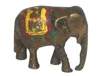 Elephant Figure Old Brass Handcrafted Fine Quality Animal Figurine Statue Idol