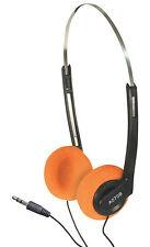 Leggero musica stereo computer regolabile Cuffie con cuscinetti Arancione