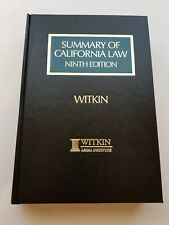 Summary of California Law Ninth Edition Vol 3 Hardcover Book Witkin Legal Ins