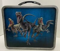 Jurassic World Tin Metal Lunchbox 2015. Jurassic Park Collectible Great Shape.