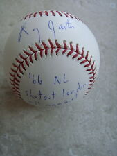 LARRY JASTER 66 N.L. SHUTOUT LEADER ALL AGAINST DODGERS SIGNED OFFICIAL ML BALL