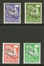 SERIE TIMBRES PREOS 119-122 NEUF ** GOMME ORIGINALE - SANS CHARNIERES TTB