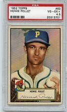1952 Topps Howie Pollet #63 Baseball Card