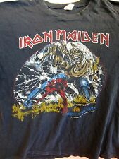 Original Vintage IRON MAIDEN Concert T-Shirt Size XL Tour Shirt 1982-1983