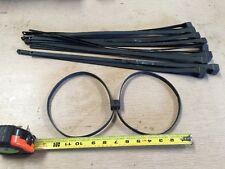 Tri Fold Black Zip Tie Handcuffs Leg Cuffs 10 Each