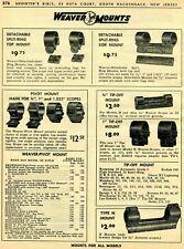 1963 Print Ad of Weaver Tip-Off, Top & Side Scope Mount