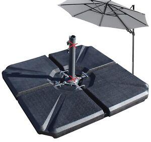 4er Set Schirmgewicht Platten befüllbar Gewicht Ampelschirm Sonnenschirm Ständer