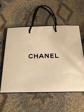 Auth Chanel White Paper Gift Shopping Bag 10.5x9.0x4.5 Sz S
